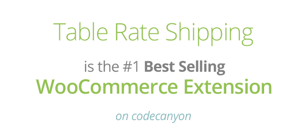 Tabe Rate Shipping Best Selling CodeCanyon Extension WooCommerce