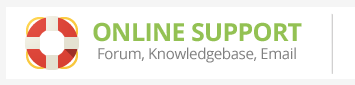 ONLINESUPPORT Forum, Knowledgebase, e-post